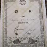 Диплом системы Чин-Сан