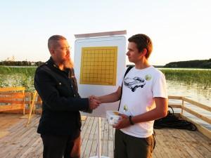 Игорь Гришин и Сергей Марченко на озере Селигер, 2012 год